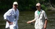Introduce Fly Fishing -Father and Son