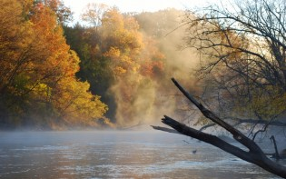 Lower Manistee River in the Fall