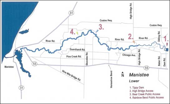 Map of the Lower Manistee River
