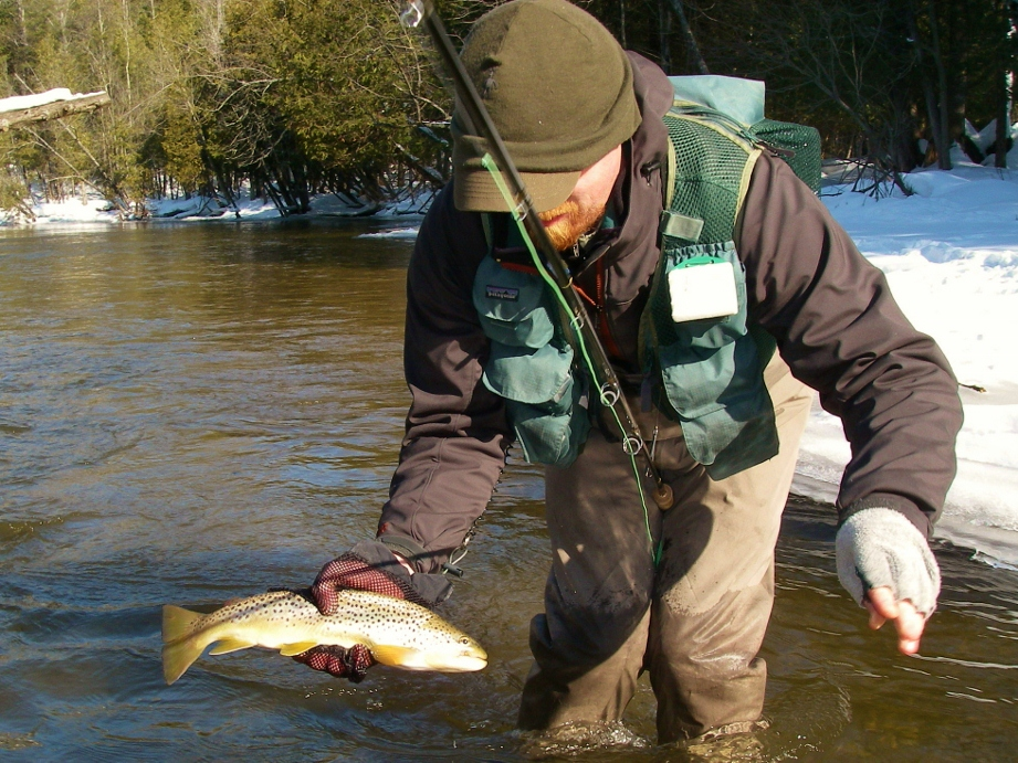 Trout winter fly fishing current works guide service for Winter trout fishing