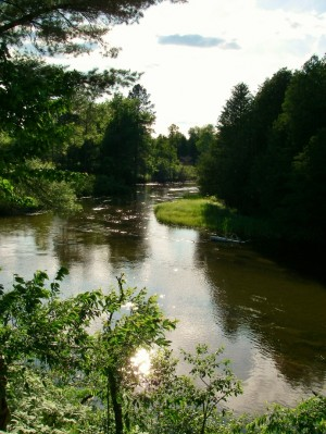 Upper Manistee River - CCC Bridge