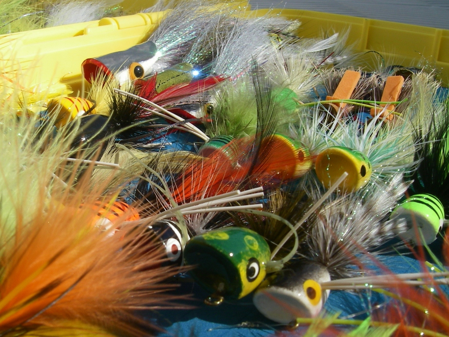 Largemouth bass flies current works guide service for Fly fishing for largemouth bass