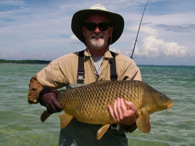 Carp current works guide service for Fly fishing carp