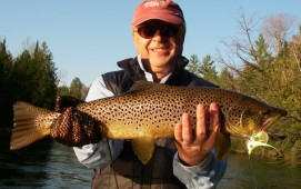 May Fly Fishing - Streamer Fishing Michigan