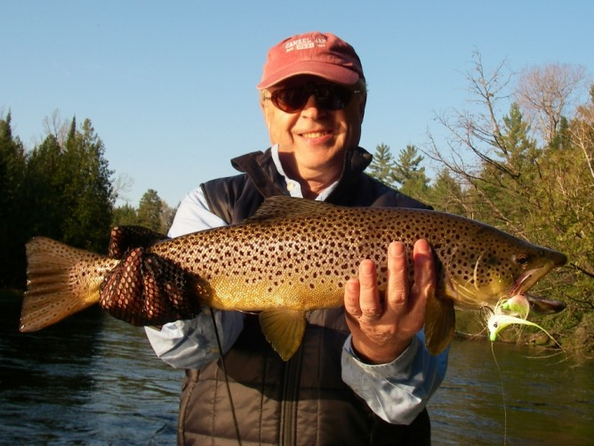 May Fly Fishing - Streamer Fishing Michigan