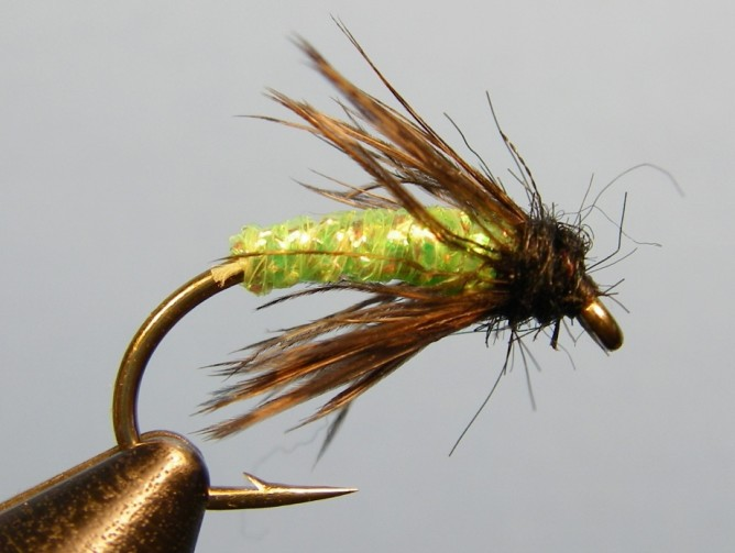 Green Caddis - Diamond Braid