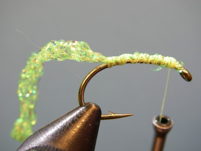 Green Caddis -Diamond Braid - Step 2