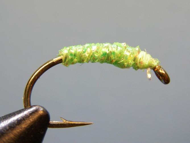 Green Caddis - Diamond Braid - Step 3b