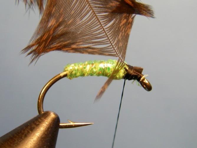 Green Caddis - Diamond Braid - Step 4b
