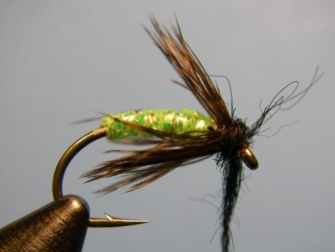 Green - Caddis Diamond Braid - Step 6